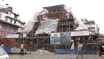 भूकम्पले क्षतिग्रस्त काष्ठमण्डप पुर्ननिर्माणको काम ७० प्रतिशत सम्पन्न